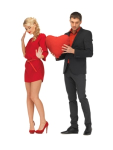 woman-turning-guy-away-holding-heart