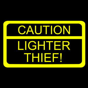 Caution-Lighter-Thief-Tshirt-Logo